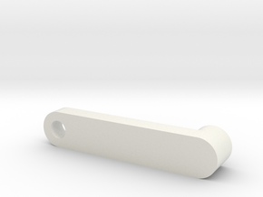 Handle in White Natural Versatile Plastic
