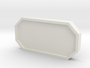 Hub Window Cover in White Natural Versatile Plastic