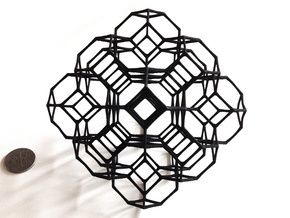 Truncated octahedral lattice in Rhodium Plated Brass