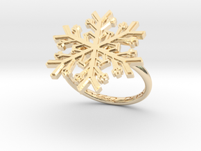 Snowflake Ring 1 d=17.5mm h21d175 in 14K Yellow Gold