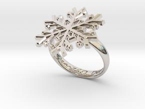 Snowflake Ring 1 d=18.5mm h35d185 in Platinum
