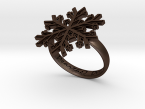 Snowflake Ring 1 d=18.5mm h35d185 in Matte Bronze Steel