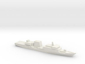 Haijing/CCG-2901 Patrol Ship w/ Barrels, 1/3000 in White Strong & Flexible