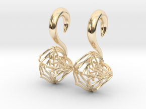 Plugs / gauges/ The Lotus Plug 0g (8 mm) in 14k Gold Plated Brass