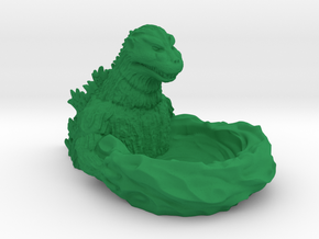 Godzilla 1954 Tray in Green Processed Versatile Plastic