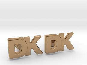 Monogram Cufflinks DK in Polished Brass