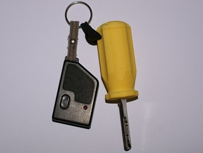 Carisma Screwdriver Key in Yellow Strong & Flexible Polished