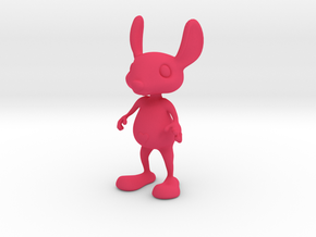 Tiny Heart Bunny in Pink Processed Versatile Plastic