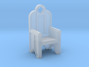 Gothic Chair in Smoothest Fine Detail Plastic
