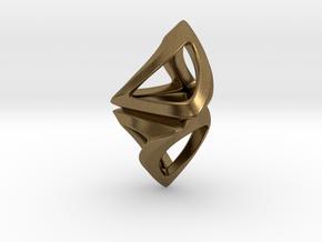 Trianon Twist, Pendant. Sharp Chic in Natural Bronze