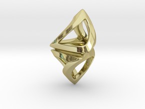 Trianon Twist, Pendant. Sharp Chic in 18k Gold Plated Brass