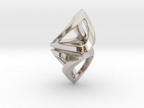 Trianon Twist, Pendant. Sharp Chic in Rhodium Plated Brass