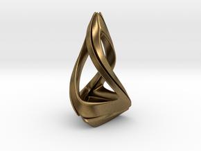 Trianon T.1, Pendant. Stylized Shape in Natural Bronze