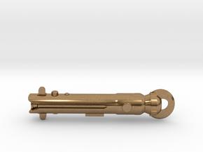 Ahsoka Saber Keychain in Natural Brass