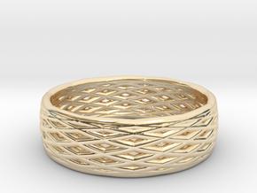 V8 Ring in 14k Gold Plated Brass