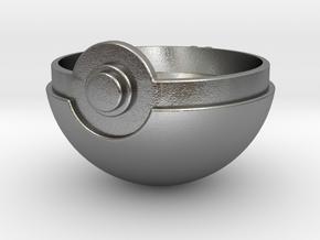 Pokeball Top Half in Natural Silver