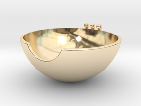 Pokeball Bottom Half in 14k Gold Plated Brass