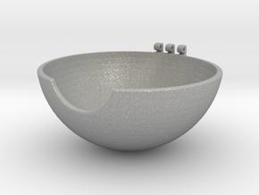 Pokeball Bottom Half in Aluminum