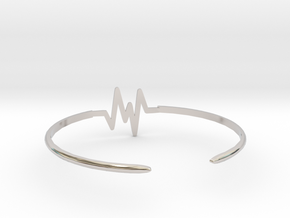 Keep Moving Bangle in Rhodium Plated Brass