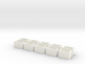 10 Pack Speaker Box Closed - 16mm x 9mm x 10mm  in White Processed Versatile Plastic