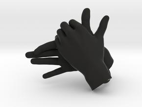 Dog - Hand Shadows in Black Natural Versatile Plastic