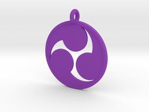 Mitsudomoe in Purple Processed Versatile Plastic