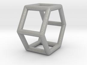 0421 Hexagonal Prism (a=1cm) #001 in Aluminum