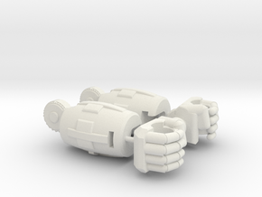 Fearsome Gust Arms and Fists in White Natural Versatile Plastic