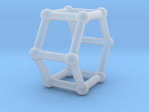 0422 Hexagonal Prism (a=1cm) #002 in Frosted Extreme Detail