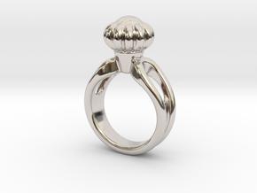 Ring Beautiful 19 - Italian Size 19 in Rhodium Plated Brass
