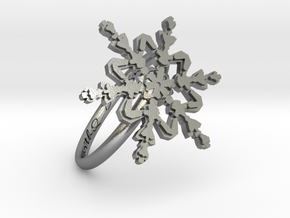 Snowflake Ring 2 d=18.5mm h21d185 in Natural Silver