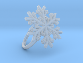 Snowflake Ring 1 d=18.5mm h21d185 in Smooth Fine Detail Plastic