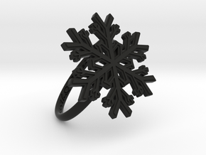 Snowflake Ring 1 d=18.5mm h21d185 in Black Strong & Flexible