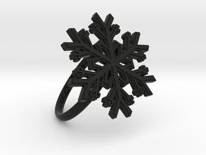 Snowflake Ring 1 d=18.5mm h21d185 in Black Natural Versatile Plastic