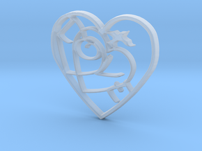Love...when two hearts beat as one! in Smooth Fine Detail Plastic