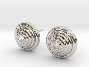 Lux spike Earrings in Rhodium Plated Brass