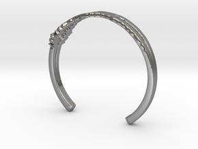 I Love You Sound Wave | Wrist Cuff in Natural Silver: Small