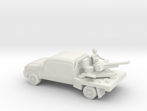 10mm (1/144) 2006 Chevrolet Silverado 2500 (ZU-23- in White Strong & Flexible