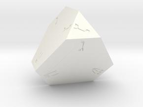 Dreidel D4 in White Processed Versatile Plastic