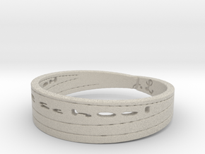 Homeschool class ring 2 Ring Size 11 in Natural Sandstone