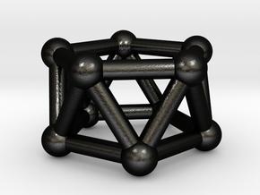 0438 Pentagonal Antiprism (a=1сm) #003 in Matte Black Steel