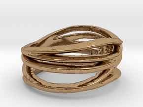 Simple Classy Ring Size 8 in Polished Brass