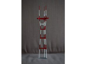 "12"" Sutro Tower in White Natural Versatile Plastic"
