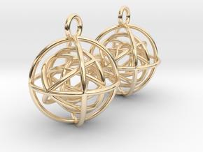 EarRings in 14k Gold Plated Brass