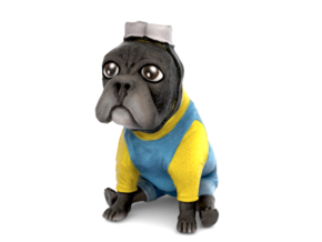 Minion Frenchie (black)  in Full Color Sandstone