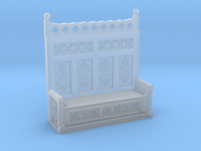 Monks Bench  in Smooth Fine Detail Plastic