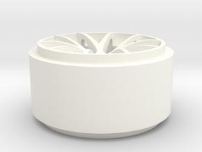 Rear Corvette Spyder Wheel in White Processed Versatile Plastic