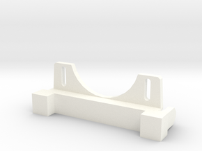 Front Bulkhead with Servo Mount for Axial SCX10 in White Processed Versatile Plastic