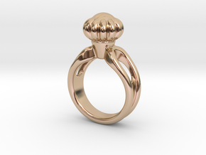 Ring Beautiful 24 - Italian Size 24 in 14k Rose Gold Plated Brass