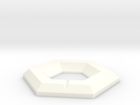 NXS - Marked Hex in White Strong & Flexible Polished